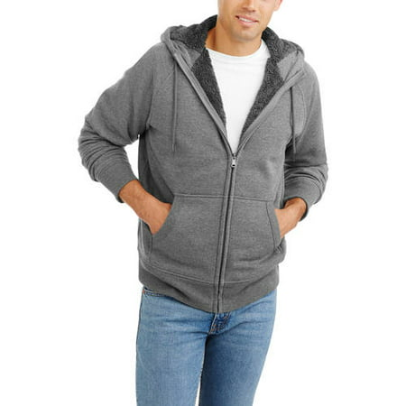 039480bf Faded Glory - Men's Sherpa Hoodie - Walmart.com