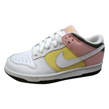 Nike - Nike Women s Dunk Low White White-Lemon-Light Coral 317813 ... 1cda4c6a83
