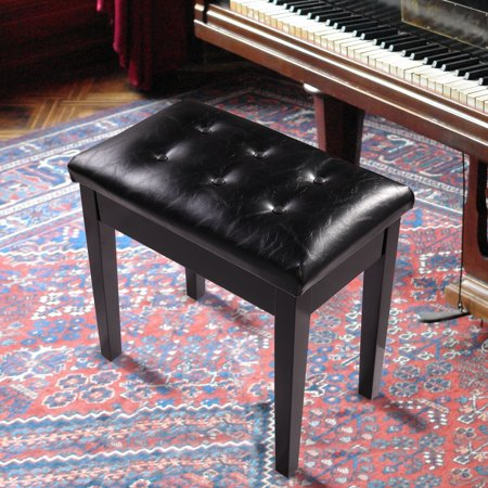 Remarkable Jaxpety Piano Bench Pu Leather Storage Padded Keyboard Single Seat Black Caraccident5 Cool Chair Designs And Ideas Caraccident5Info