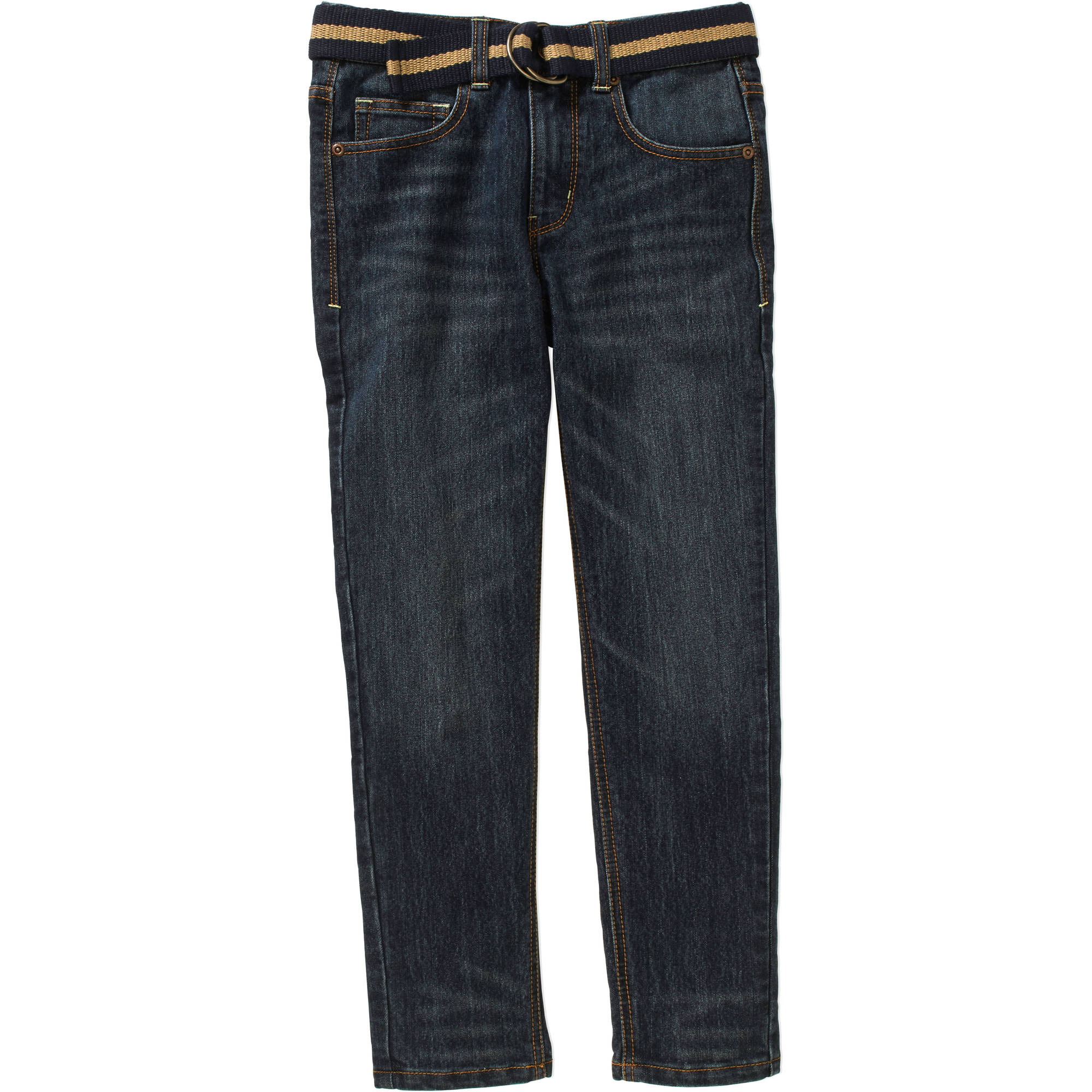 Faded Glory Boys' Belted Fashion Denim Jeans