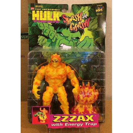 Smash and Crash the Incredible Hulk ZZZAX Action Figure by Toybiz, By Toy Biz Ship from - Lady From Incredibles