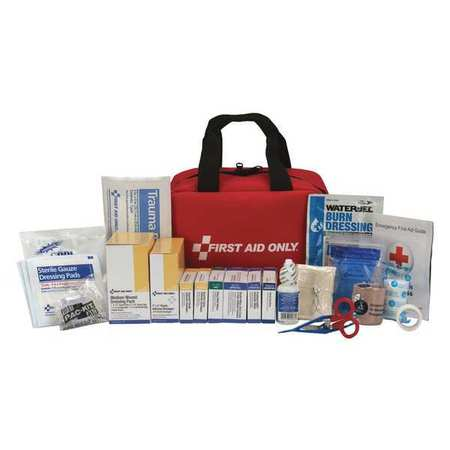 FIRST AID ONLY 90599 First Aid Kit,50 People,Fabric,225 Comp. G4161486