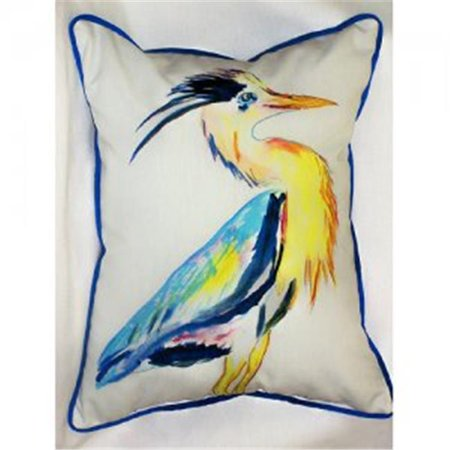 Betsy Drake ZP328 Vertical Blue Heron Throw Pillow, 20 x 24 in.