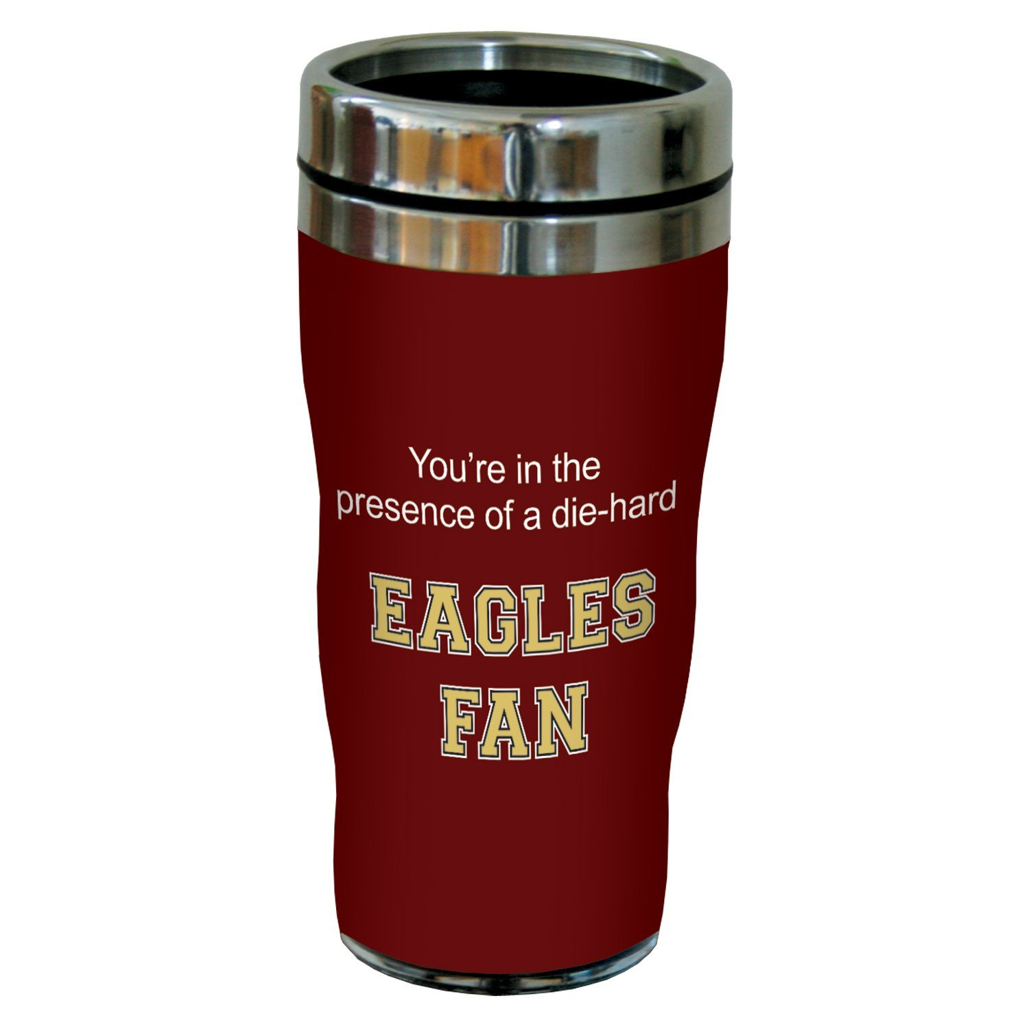 Tree-Free Greetings sg24643 Eagles College Basketball Sip 'N Go Stainless Steel Lined Travel Tumbler, 16 Ounce