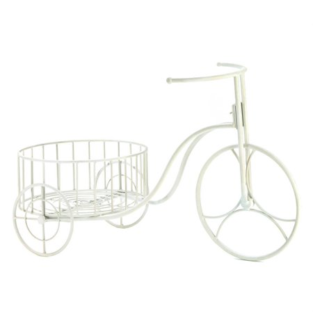Large Planter, Metal Bicycle White Planters Outdoor Garden Decorative