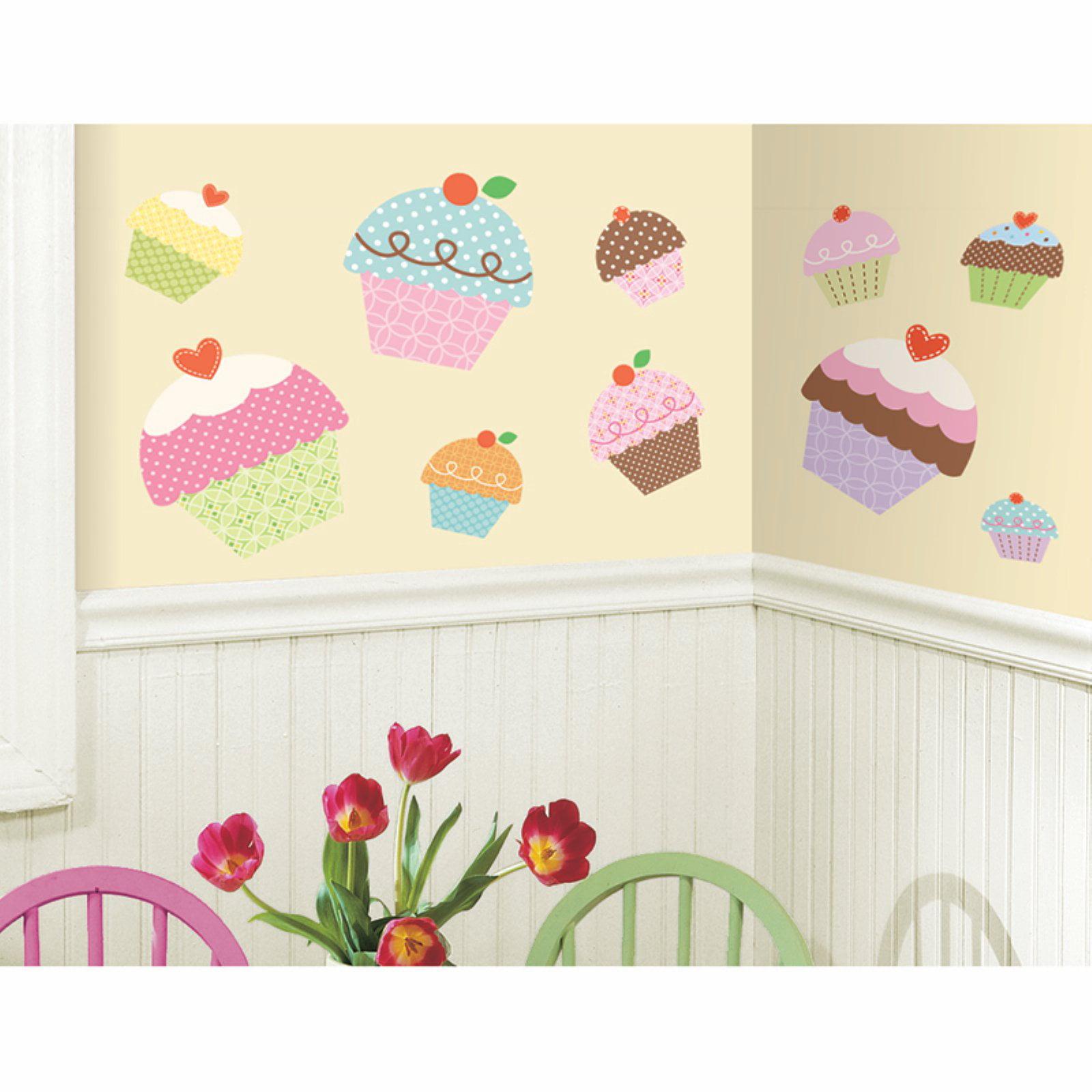 Happi Cupcake Peel & Stick Giant Wall Decals