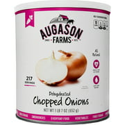 Augason Farms Emergency Food Dehydrated Chopped Onions, 23 oz