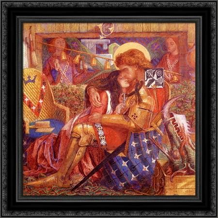 The Wedding Of Saint George And The Princess Sabra 20X20 Black Ornate Wood Framed Canvas Art By Rossetti  Dante Gabriel