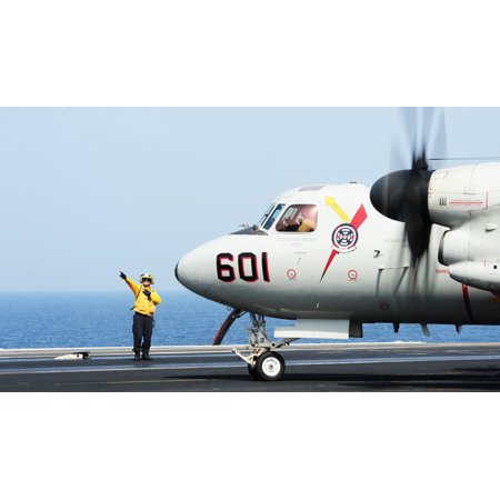- LAMINATED POSTER Sailors direct an E-2C Hawkeye, attached to the Bear Aces of Carrier Airborne Early Warning Squadron Poster Print 24 x 36
