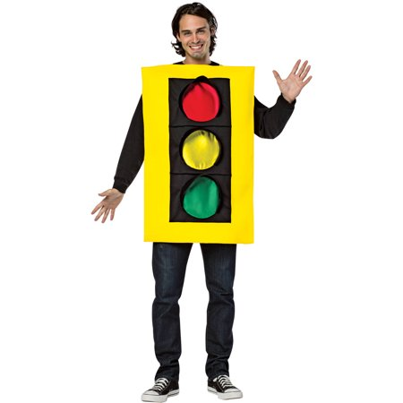 Traffic Light Tunic Men's Adult Halloween Costume, One Size, (40-46)](Traffic Light Halloween Costume)
