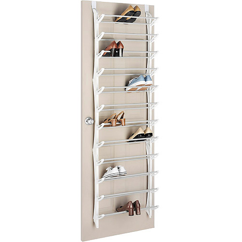 Whitmor 36 Pair Over the Door Resin Shoe Rack, White