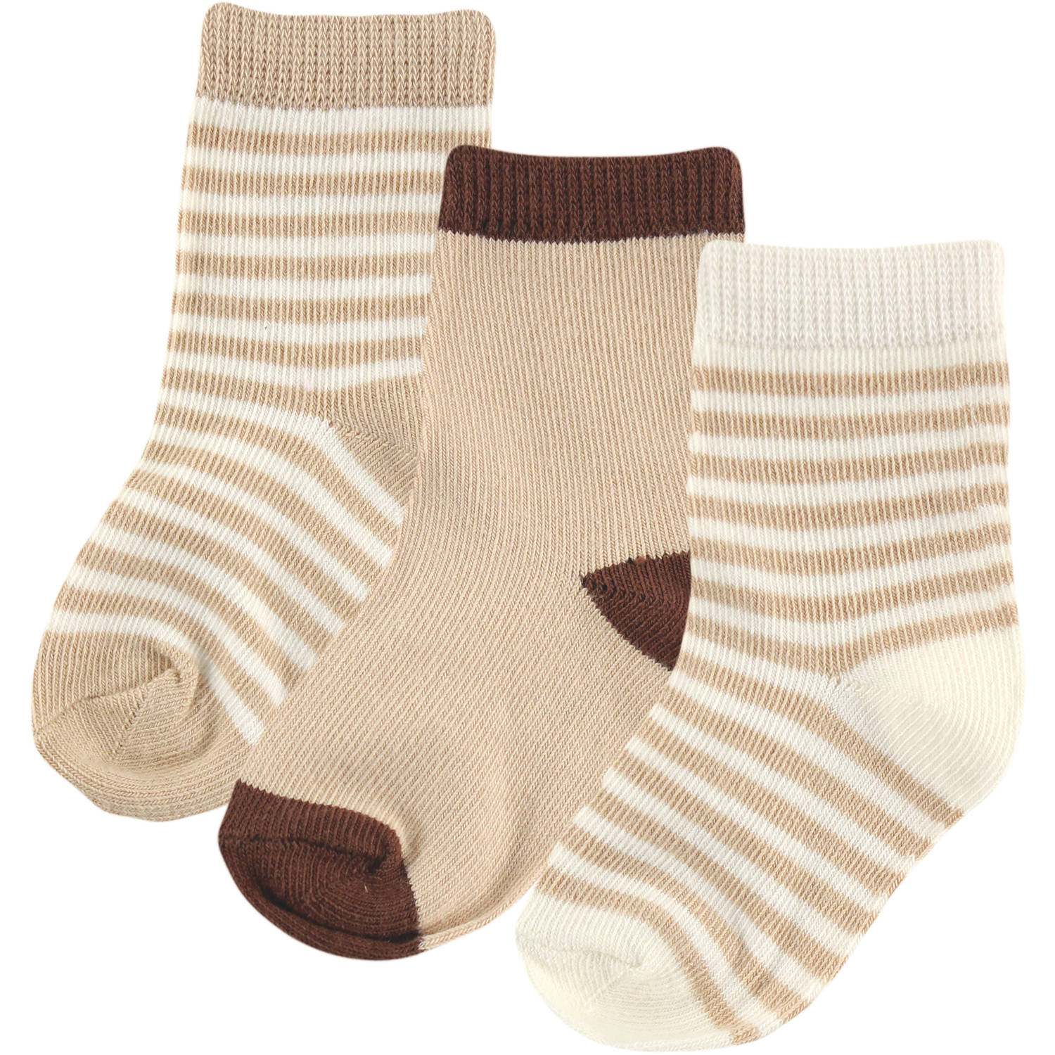 Touched By Nature 100% Organic Cotton Newborn Baby Clothes Boy or Girl Unisex Socks 3-Pack