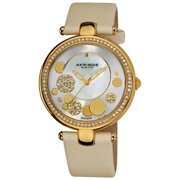 Akribos XXIV  Women's Diamond Dial Quartz White Strap Watch