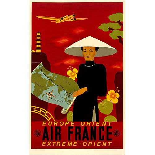 """Trademark Fine Art """"Air France Orient Express"""" Canvas Art by Lucian Boucher"""
