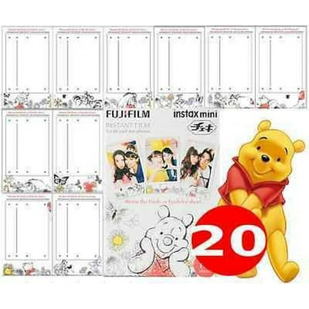 Fujifilm Instax Mini Pooh 30 Film for Fuji 7s 8 25 50s 90 300 Instant Camera, Share