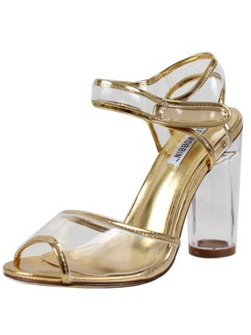 f1a82cef80 Free shipping. Product Image cape robbin women's peep toe lucite clear heel  ankle strap sandal (black, 5.5 b