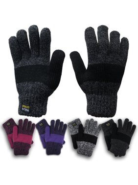 Polar Extreme Women's Thermal  Insulated  Super Warm Winter Gloves (Black)