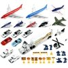 VT Deluxe Intl Airport Diecast Childrens Kids Toy Vehicle Playset w/ Variety of Vehicles, Accessories