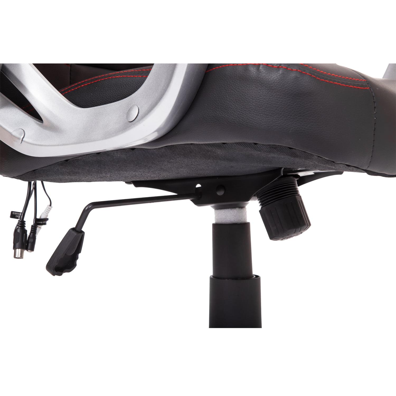 HomCom Race Car Style PU Leather Heated Massaging Office Chair