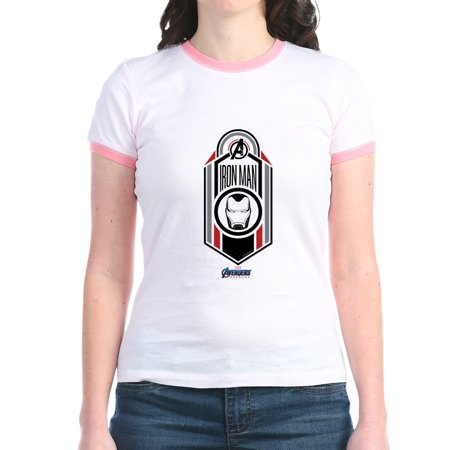 CafePress - Iron Man Logo Jr. Ringer T Shirt - Jr. Ringer T-Shirt, Slim Fit 100% Cotton