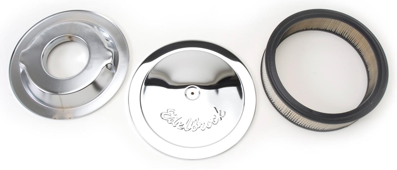 "Edelbrock 1221 Pro-Flo Air Cleaner 14/"" Diameter 3/"" Element Deeper Flange"