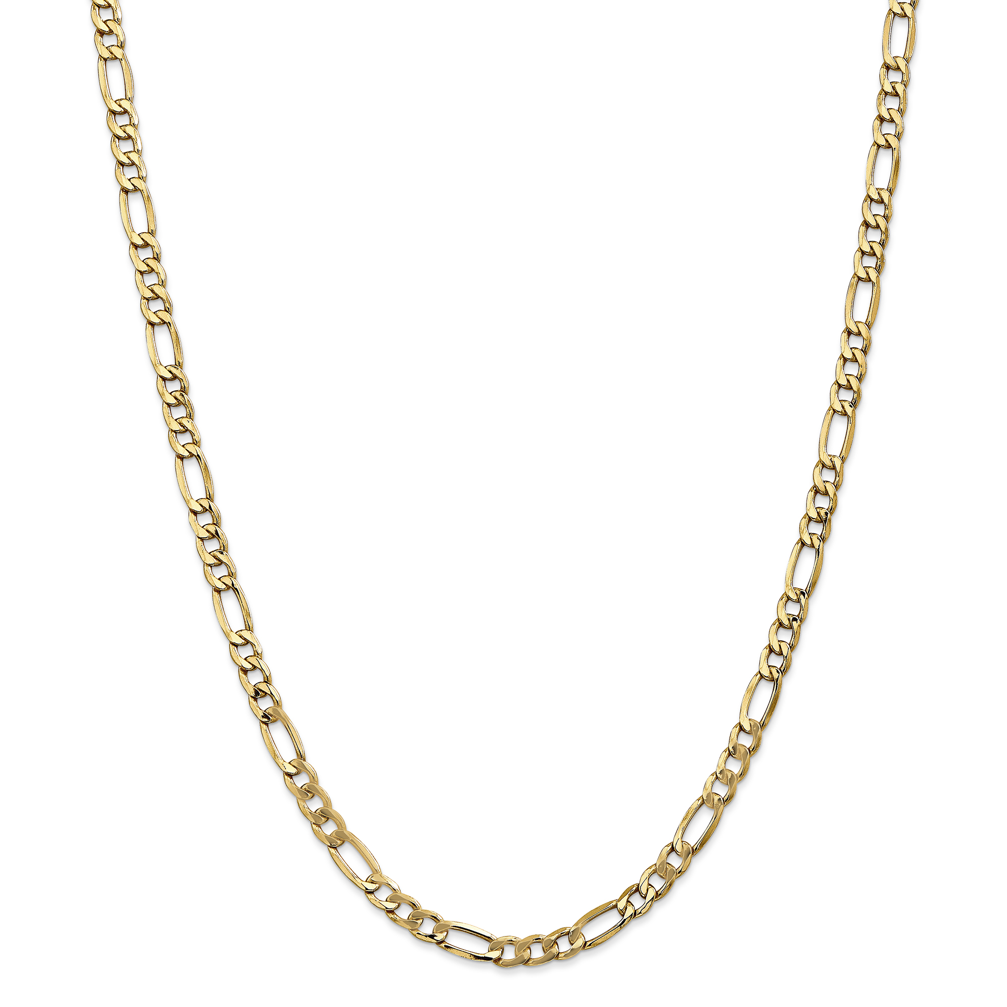 Roy Rose Jewelry 14K Yellow Gold 5.35mm Semi-Solid Figaro Chain Necklace ~ Length 16'' inches by