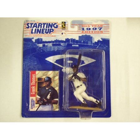 Mlb Colored Collectibles (Frank Thomas 1997 Edition Starting Lineup MLB Sports Superstar Collectible Action Figure, out of print figure By Hasbro)