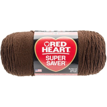 Brown Yarn (Red Heart Super Saver Acrylic Coats Coffee Yarn, 1 Each)