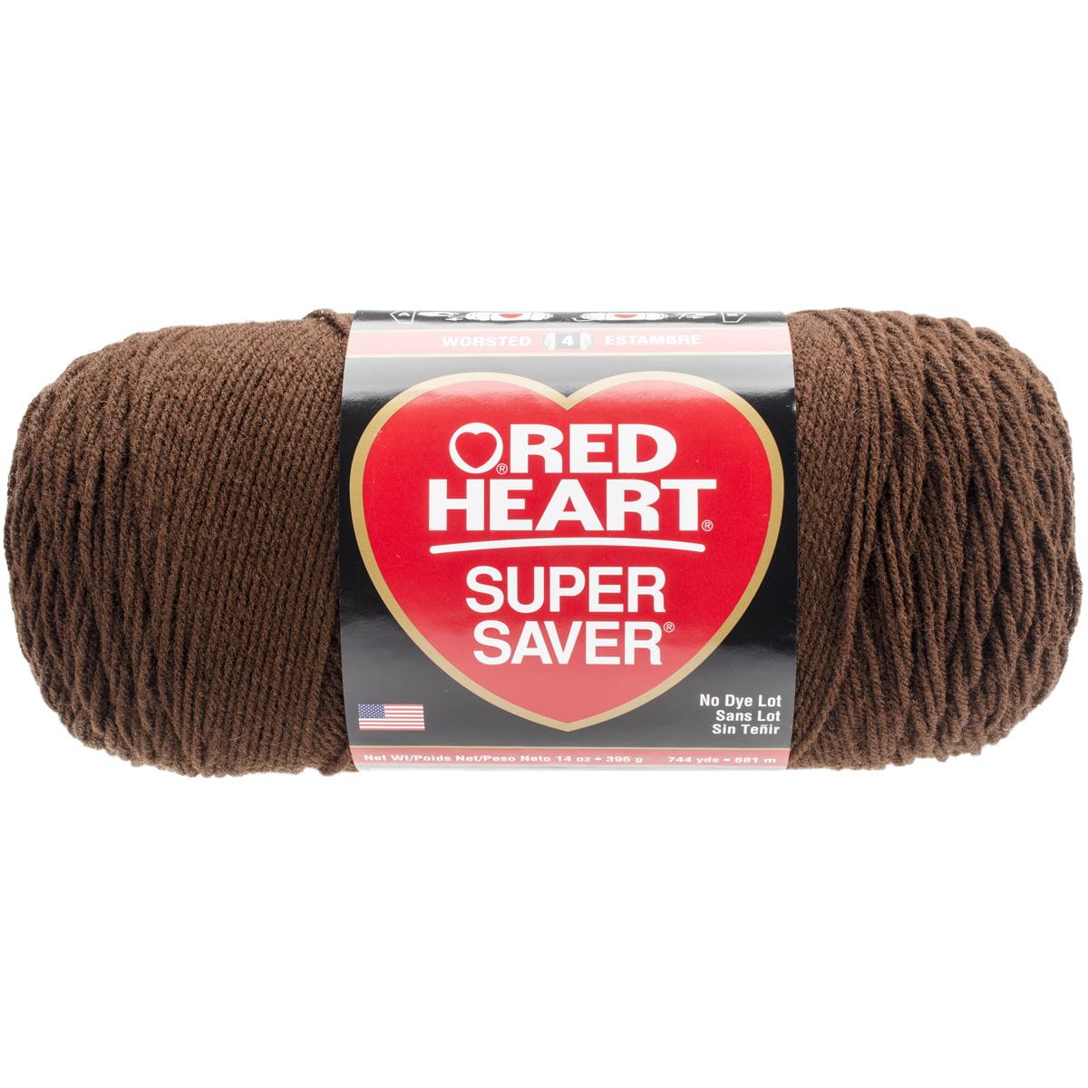 Red Heart Super Saver Acrylic Coats Coffee Yarn, 1 Each