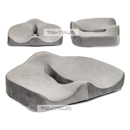 Tektrum Orthopedic Memory Foam Seat Cushion For Back Pain