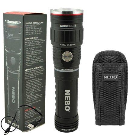 Nebo 6726 Slyde King 500 Lumen Rechargeable LED Flashlight + Nebo 6274 Holster