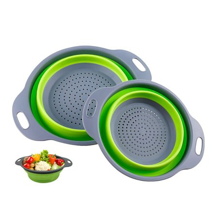 Collapsible Colander Foldable Wash Colander Folding Kitchen Vegetable Strainer Fruit Vegetable Washing Basket Kitchen Collapsible Strainer