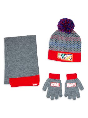 Boy's Marvel hat, glove, and scarf set