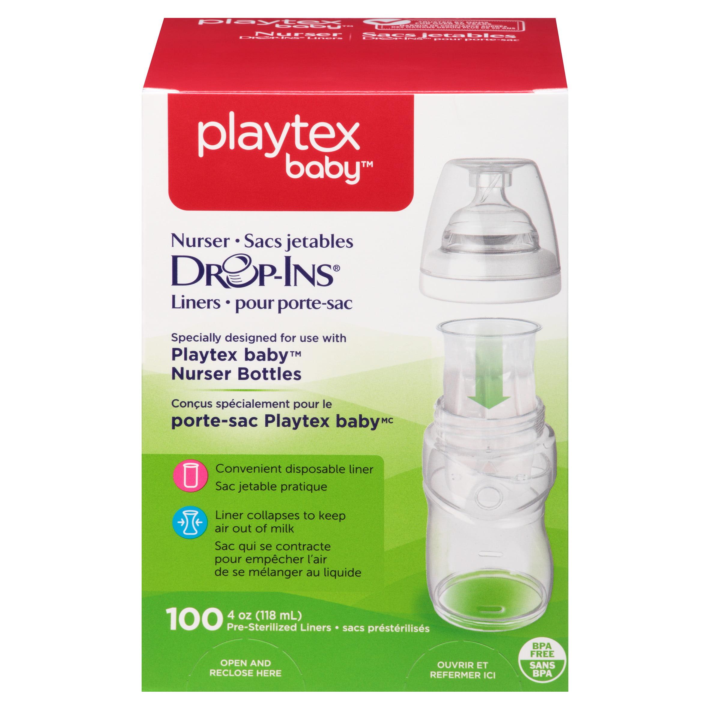 Playtex Baby Drop-Ins Liners For Playtex Baby Nurser Bottles 4-6oz 100 count