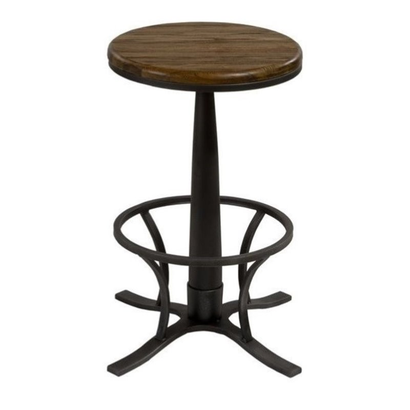 """Bowery Hill 26"""" Backless Swivel Counter Stool in Steel Gray"""
