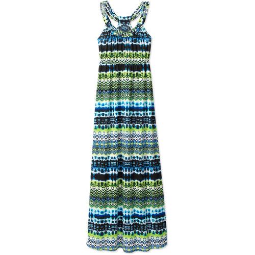 Faded Glory Women's Braid Trim Maxi Dress