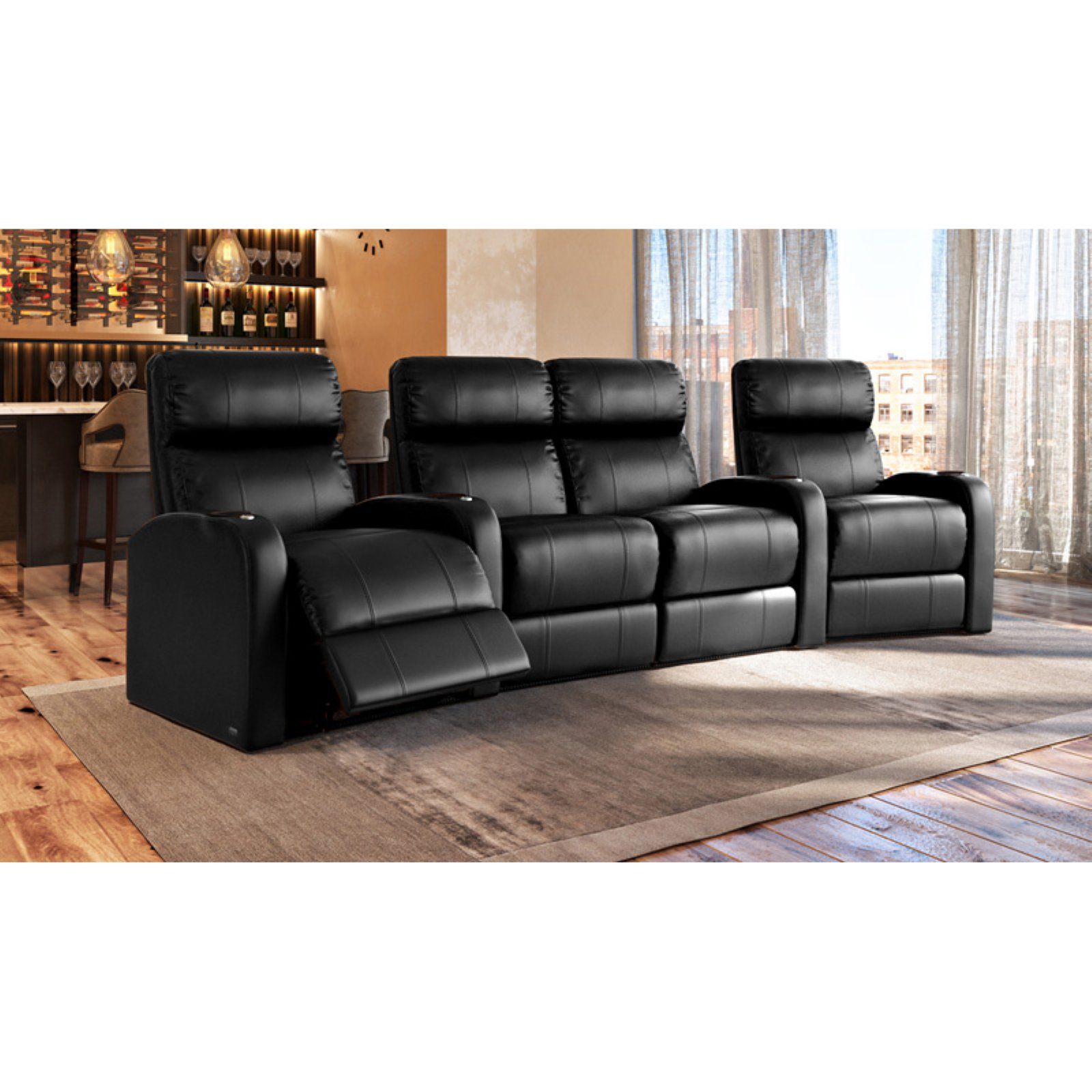 Octane Diesel XS950 4 Seater Middle Loveseat Curved Home Theater Seating