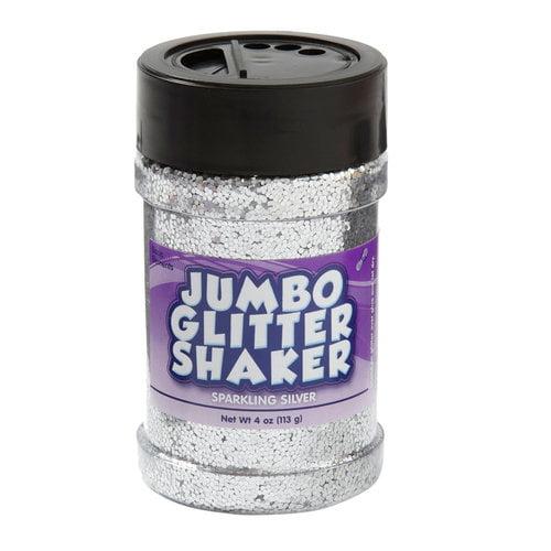 Kids Craft 4 oz Glitter Shaker, Silver