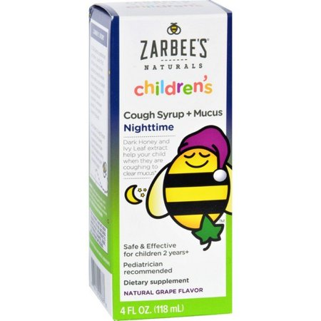 Childrens Cough - Zarbee's Cough Syrup And Mucus Reducer - Childrens - Nighttime - 4 Oz