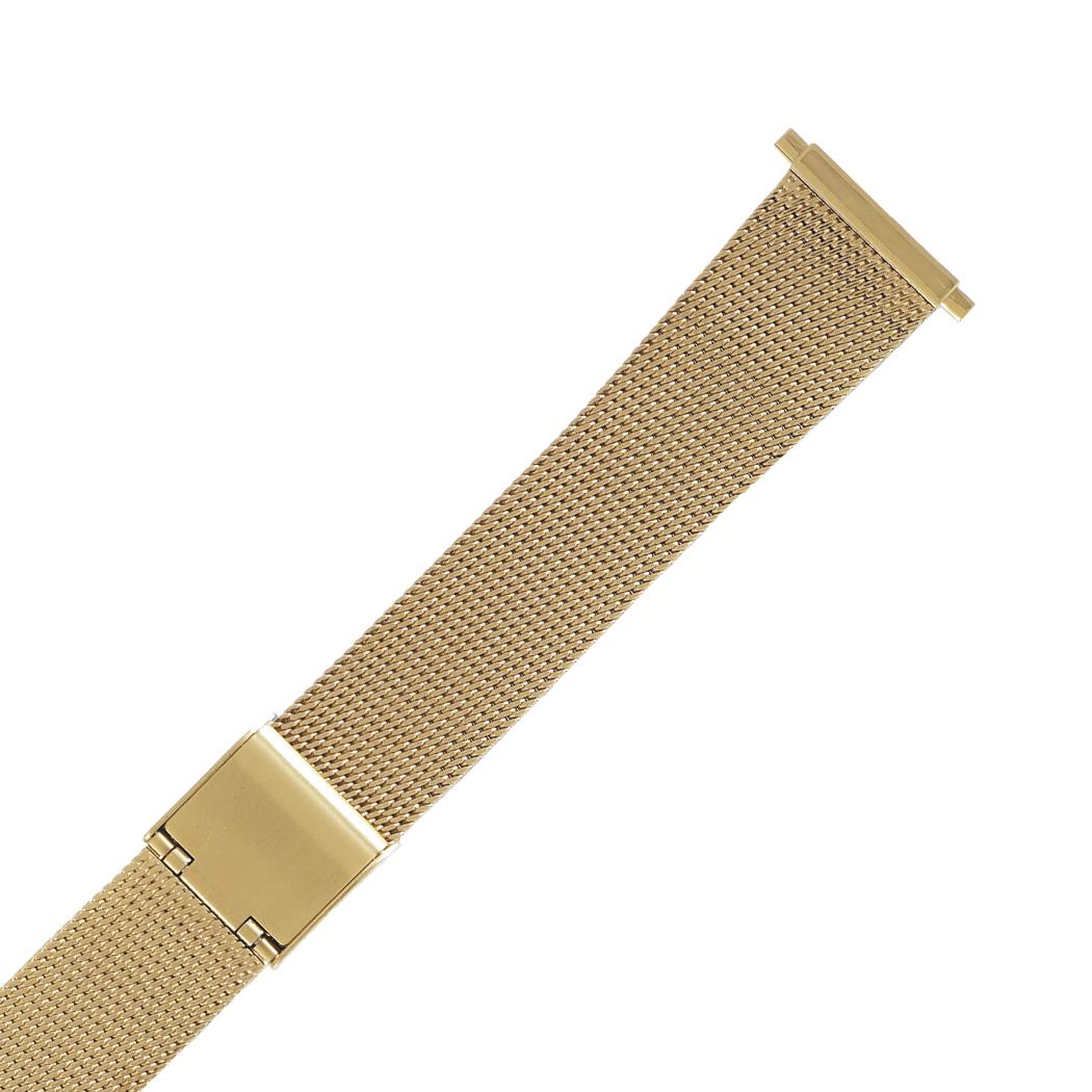 Hadley-Roma MB3805Y 18-22mm Squeeze End Gold Tone Mens Br...
