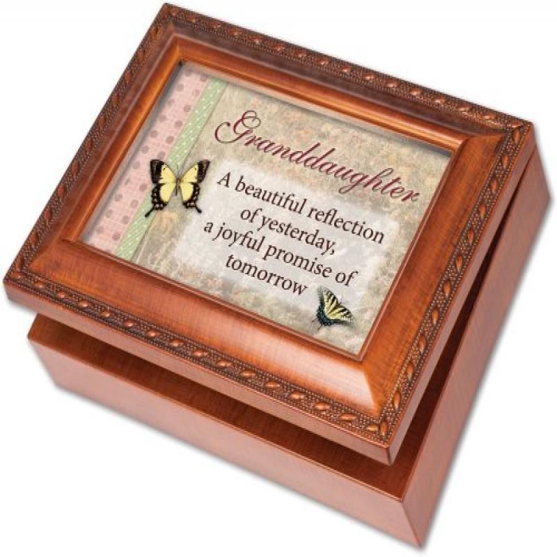 Cottage Garden Granddaughter Woodgrain Music Box / Jewelr...
