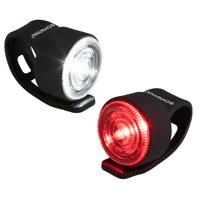 Schwinn Shift headlight for bicycles, 12 lumens, batteries included, black