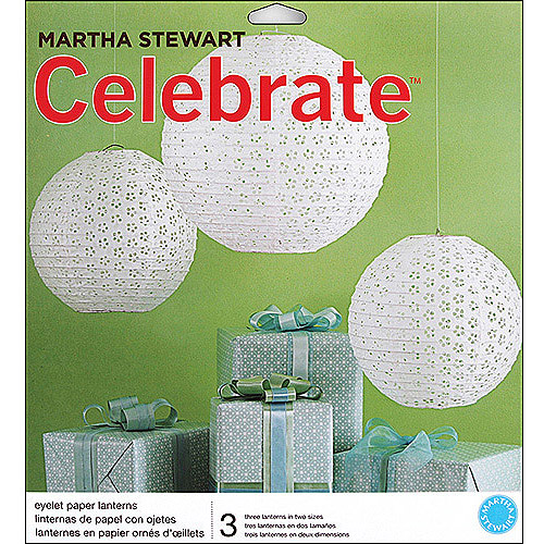 Martha Stewart Celebrate Paper Lanterns, White Eyelet