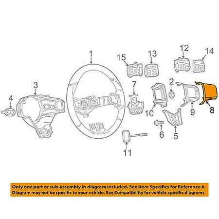 Dodge CHRYSLER OEM 13-16 Dart Steering Wheel-Bezel Right 5LQ47DX9AA