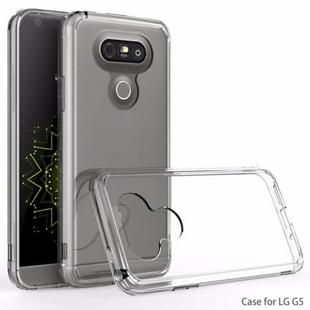 LG G5 Case - Armatus Gear (TM) Ultra Slim Anti-Scratch Acrylic Clear Case with TPU Grip Bumper Hybrid Phone Cover for LG (Best Case For The Lg G5)