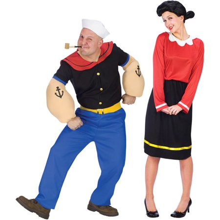 Popeye and Olive Oyl Costume Value - Greatest Couples Costumes