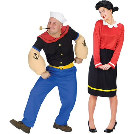 Popeye and Olive Oyl Costume Value Bundle](Family Group Costume Ideas)