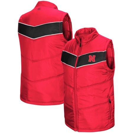 Nebraska Cornhuskers Colosseum Red Beaulieu Puff Full-Zip Vest - Scarlet
