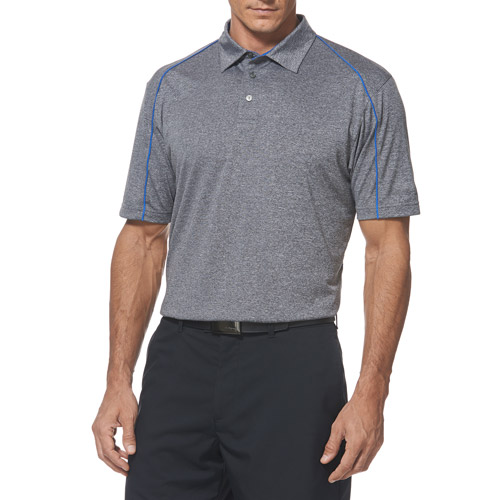 Ben hogan men s short sleeve performance heather piped polo shirt