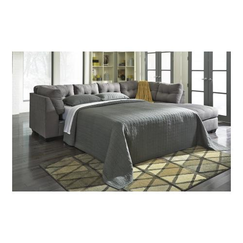"""Benchcraft Maier 17 10 117"""" Wide Sectional Sofa with Right Chaise Left Full Sleeper Sofa"""